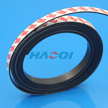magnetic tape roll flexible magnetic stick magnetic strips with 3m adhesive round adhesive tape