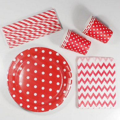 christmas dinner disposable paper tableware