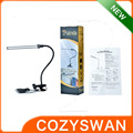 Table desk light for reading stainless metal clip desk lamp