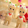 angel cat vinyl toy, collection custom vinyl toys,high quality painting making vinyl toy figure