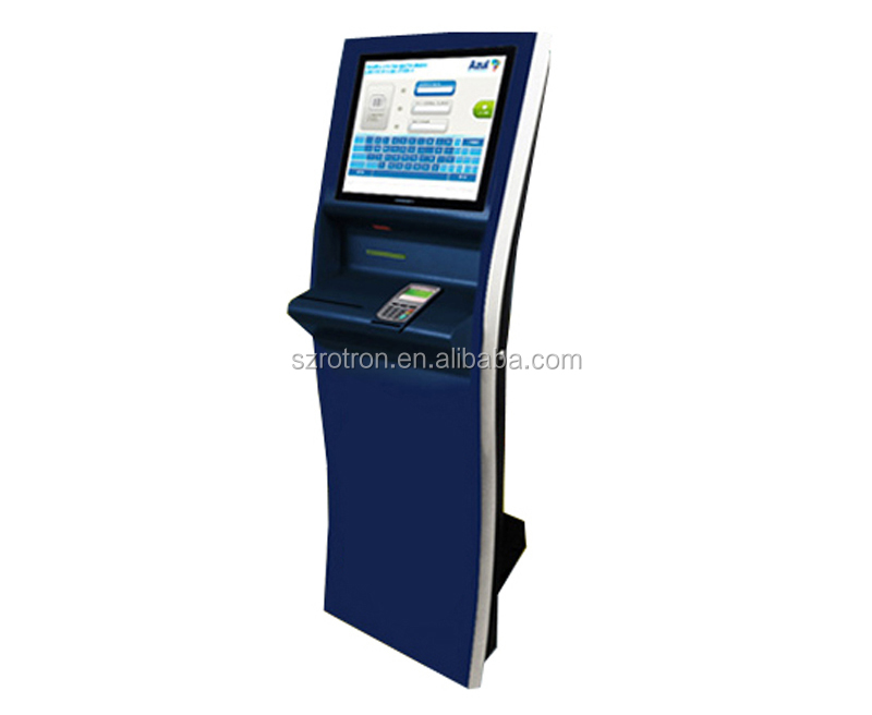 Smart design customized indoor floor standing POS payment terminal machine with pinpad