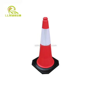 Reflective Soft PVC 18 Inches safety road cone/Traffic Cones
