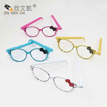 2018 New Model Kids Creative Stationery Fashion Plastic Cat Glasses Ball Pen