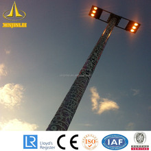 Galvanized Steel Stadium High Mast Lighting Pole