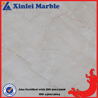 White Decorative Flooring California Beige Marble