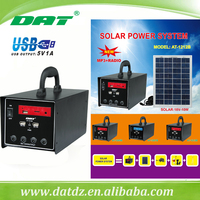 AT-1212B 12v solar home lighting system lead-acid battery with Radio and MP3 solar