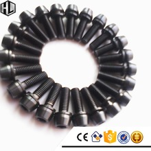 High Quality Ti6Al4V Gr.5 Titanium Allen Conical Head Bolt with Captive Washer for Bikes in PVD Black Color