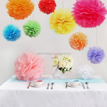 "10pcs/lot 12""(30cm) Tissue Paper Pom Poms Flower Home Garden baby shower Party Wedding Birthday Decoration Gift"