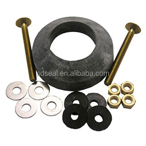 Toilet Tank to Bowl Bolt Kit with Brass Bolts Rubber and Brass Washers Hex and Wing Nuts