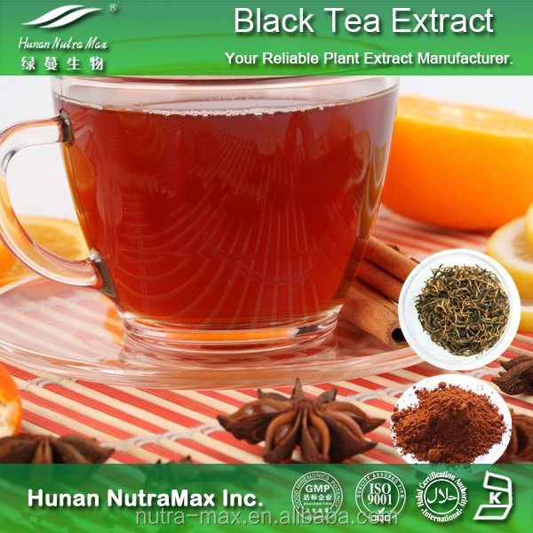 Black Tea Extract Powder, Black Tea Extract Theaflavin, Natural Black Tea Extract with Good Solubility