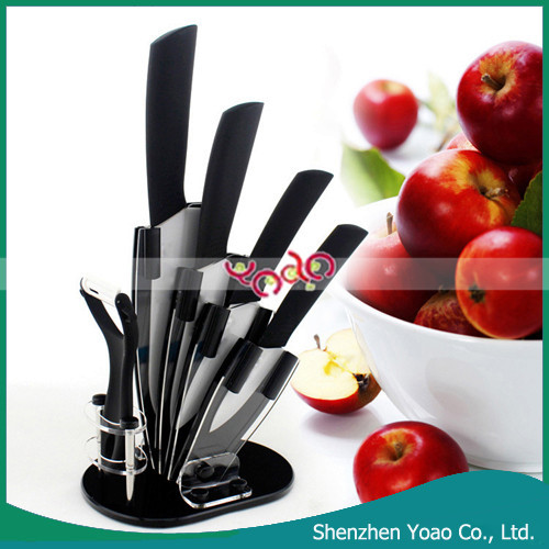 Wholesale 5pcs with Display Stand Ceramic Chef Knife Set