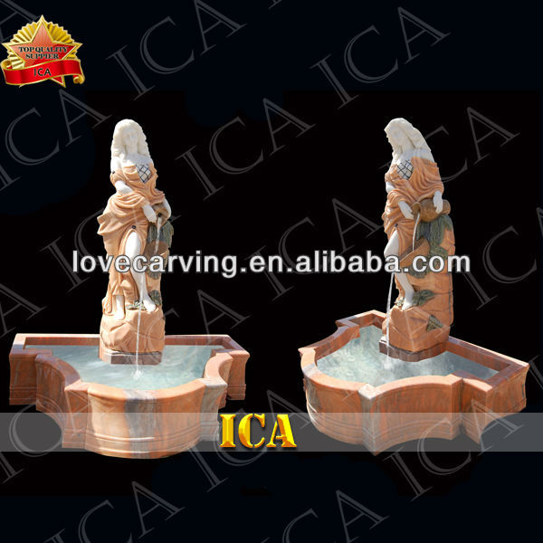 Hot sale hand carved garden stone fountain