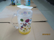 plastic double wall beer mug&gel mug