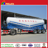 2-4 Axles Powder Material Tank Semi Trailer/Widely Used Bulk Cement Tanker Truck With Volume Optional