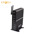 16GB RAM dual Ethernet Fanless i7 Desktop Mini Computer Windows with HD Optic fiber Audio port