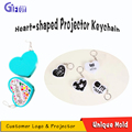 heart shape keychain heart gift key chain LED torch for Promotional