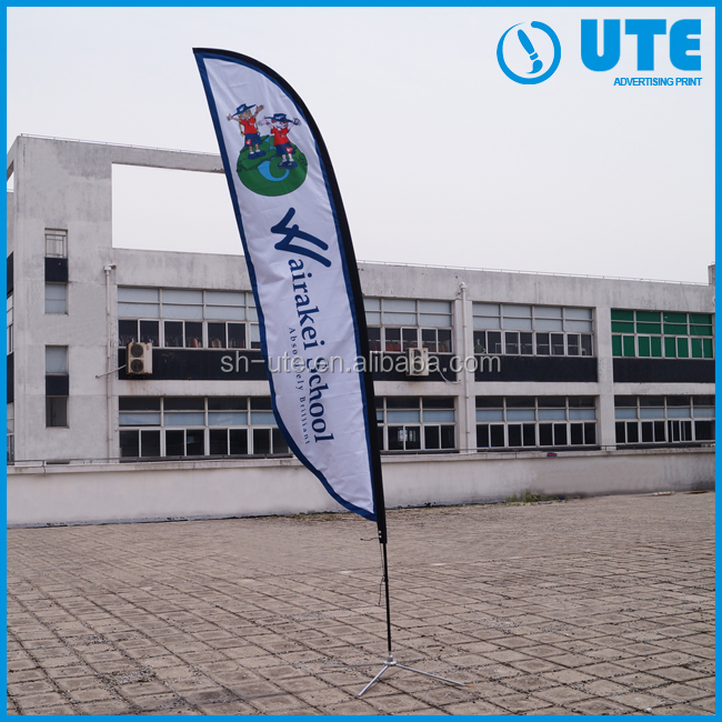 shanghai tj beach flags/custom sports flags feather flag