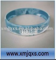 Popular Camo color debossed Camouflage Silicone Bracelets/debossed silicone band/