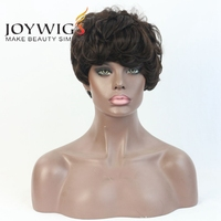 Instock 100 Human Hair Wigs For African Americans Short Bob Wig