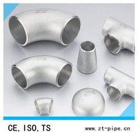 Stainless steel 90 degree elbow ( stainless steel fitting , 45 degree seamless elbow )