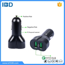 Shenzhen factory IBD promotional dual usb qc3.0 (compatible with qc2.0) car charger,support FCP and more phones