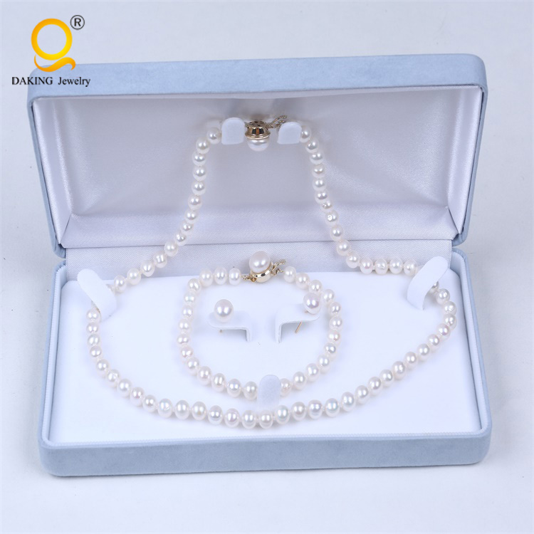 24k gold leaf jewelry pearl jewelry set