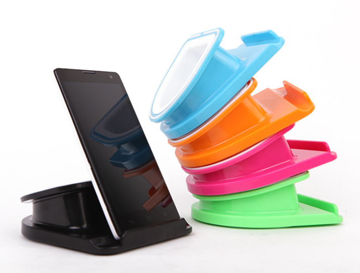Multifunctional rotary desktop funny cell mobile phone seat phone holder