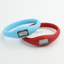 Waterproof Sports Digital Silicone Jelly Anion Unisex Bracelet Wrist Watch