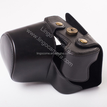 Classical Camera Case PU Leather Cover Bag For Sony ILCE-6300 A6300 18-55mm Lens With Battery Opening