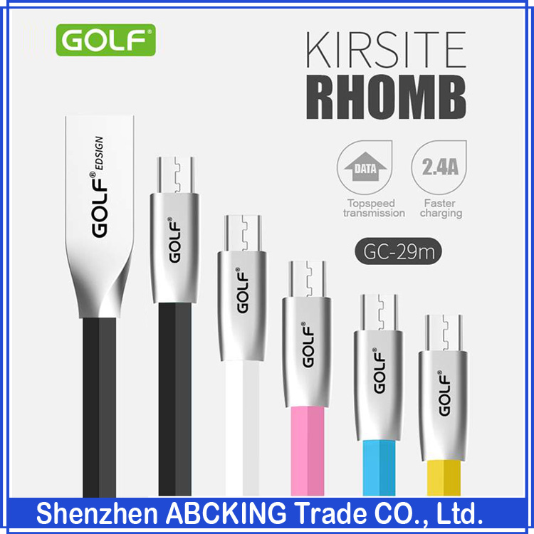 Original GOLF KIRSITE RHOMB Series Data Sync Fast Charging Cable For Huawei Xiaomi Samsung