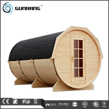 New design outdoor barrel sauna canadian prefabricated wood house
