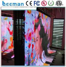 2015 new hot selling products flexible transparent outdoor led full color curtain panel walling p3.375 stage background