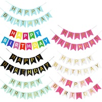 Colorful Fishtail Paper Happy Birthday Letter Banner