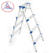 Smart Design Easy Folding Aluminium High Step Ladders