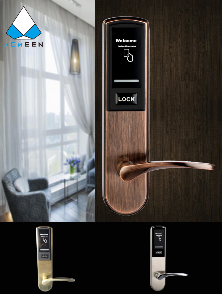 High quality stainless steel electronic hotel room lock with free software