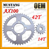 for Suzuki AX100 Motorcycle Parts Motorcycle Front Gear Box Sprocket