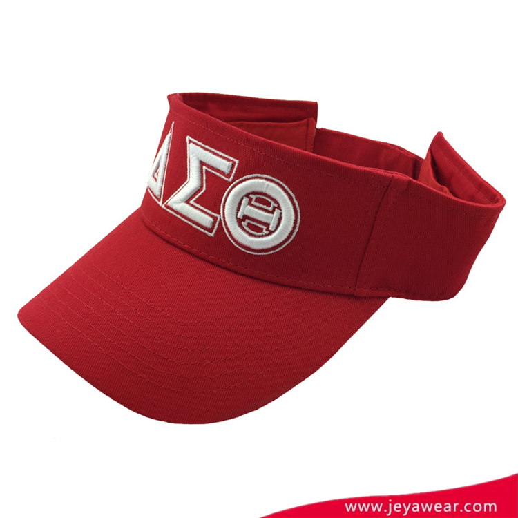 Custom embroidered wholesale cotton women's fashion adjustable golf sun visor