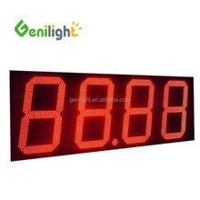 18 inch 7 segment high brightness red color 4 digits numeric display LED gas price sign