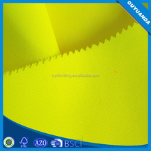 120gsm Yellow Polyester Knitted Fluorescent Fabric for Safety Traffic Warning Vest