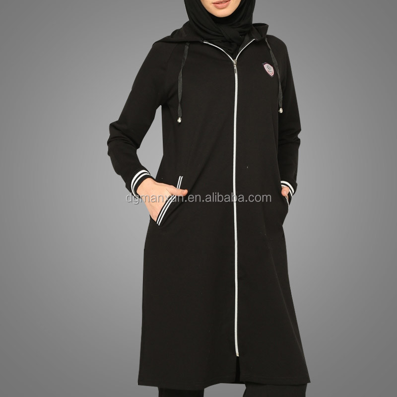 Autumn Black Islamic Clothing Wholesale Women Muslim Sports suit wear Sporty Clothing