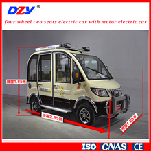four wheel two seats electric car with motor electric car