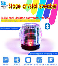 bluetooth crystal LED mini speaker manual LED pc speaker