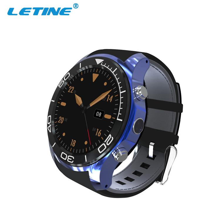 alibaba hot selling man wristwatch android 5.1 smart watch 1.3 AMOLED inch screen MTK6572 quad core sport wrist watch