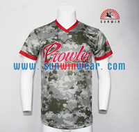 Cheap custom school college team baseball jerseys Sublimation full button baseball jersey wholesale