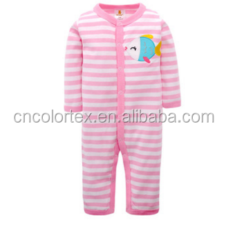 wholesale fall baby striped long sleeve rompers