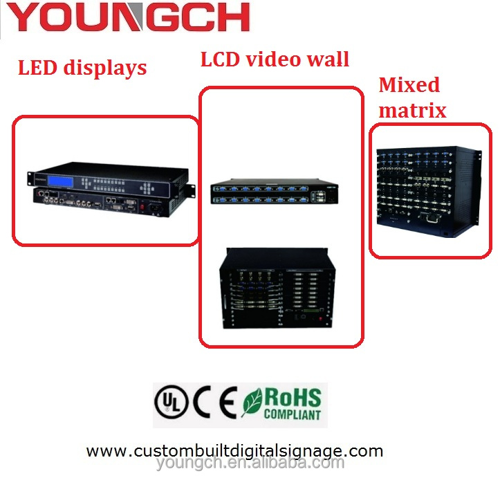 DVI input or output hdmii output video matrix for irregular video walls with special picture processing function all in one matr