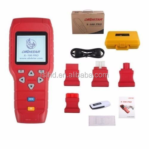 Car key programming tools for diagnostic tool Original X100+ Pro (C+D+E) Type IMMO+Odometer+OBD Software auto key programmer