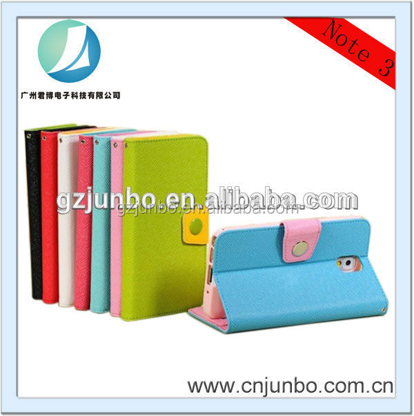 Hot Sale book style baseus leather case for samsung galaxy note3