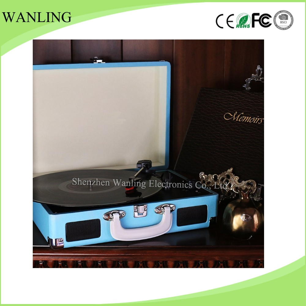 Customized 3 Speed Turntable Automatically Stop System Lp Vinyl Record Player