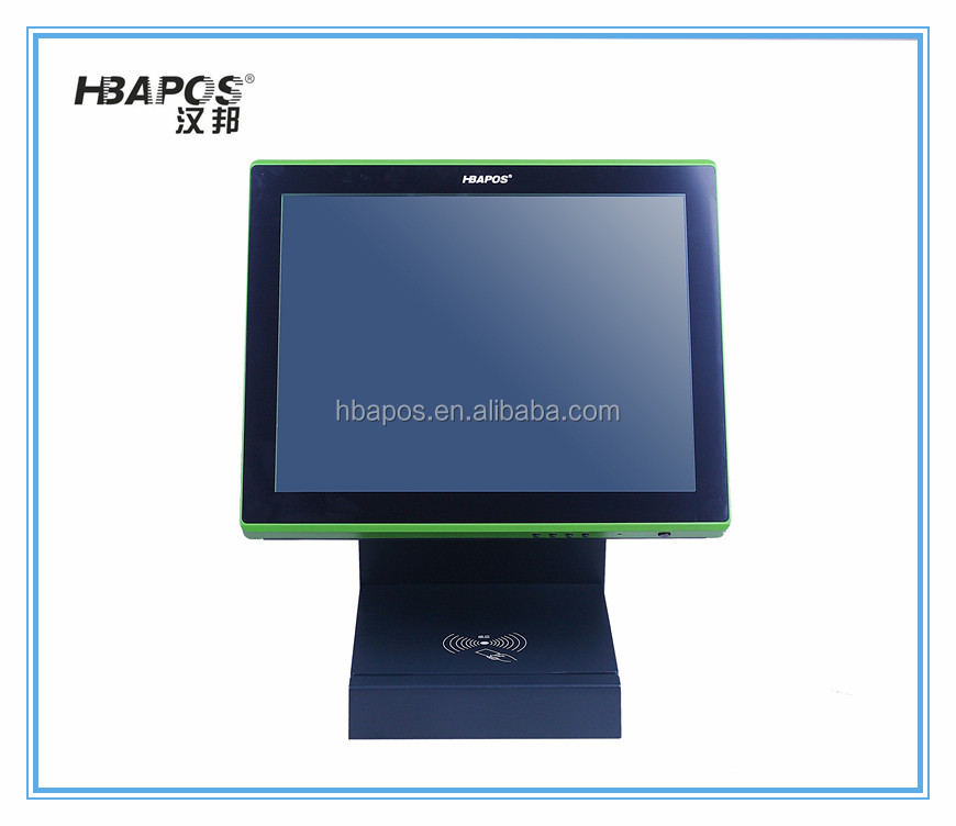 "15"" screen touch pos fanless cooling pos systems true panel touch screen pos"